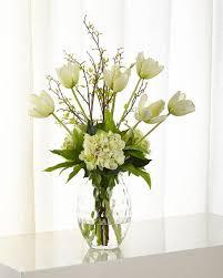 faux floral arrangements ndi tulip hydrangea faux floral arrangement neiman