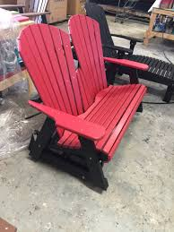 Gliding Adirondack Chairs Charlotte Poly Lumber Furniture U0026 Adirondack Chairs Visions