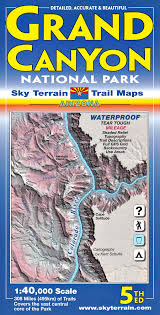 Listening Map Grand Canyon Trail Map 5th Edition Sky Terrain Kent Schulte