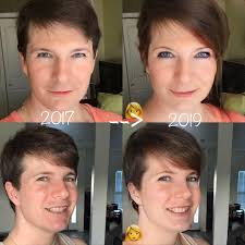 feminizeing hair so there s this app called faceapp and if you play with it and