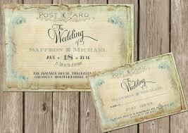 Shabby Chic Wedding Invitations by Personalised Shabby Chic Vintage Floral Postcard Wedding