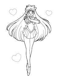sailor moon coloring pages usagi pose coloringstar