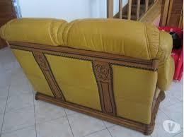 canape cuir rustique mobilier table canapé cuir et bois rustique
