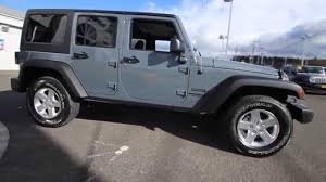 jeep wrangler unlimited grey 2015 jeep wrangler unlimited sport anvil fl545513 mt vernon