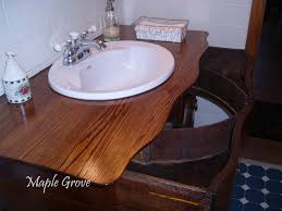 Antique Bathroom Vanities by Dressers Made Into Bathroom Vanity This Photo Shows The Two Top