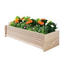cedar window boxes pots u0026 planters the home depot