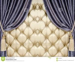 Alexander Curtains Golden Upholstery Velvet Curtain Background Stock Images Image