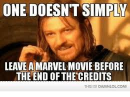 This Is The End Meme - one doesn t simply leave a marvel movie before the end of the
