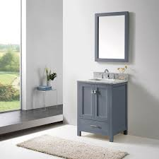 24 Bathroom Vanity With Drawers Virtu Usa Caroline Avenue 24 Inch Grey Single Bathroom Vanity