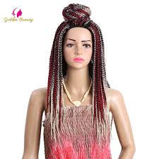 pre braided crochet hair aliexpress buy golden beauty 18inch box braid synthetic