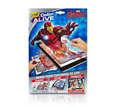 color alive avengers crayola