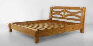 wooden bed rails teak wood bed frame curved solid wood headboard