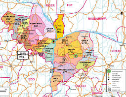 Map Of Nigerian States by History Of Kogi State Logbaby