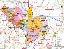 Nigeria State Map by History Of Kogi State Logbaby