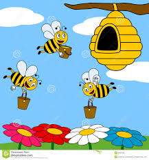 funny cartoon bees working royalty free stock images image 9405589
