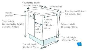 standard cabinet toe kick dimensions standard kitchen cabinet dimension standard sink base
