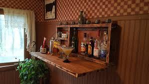 Building A Liquor Cabinet Rustic Murphy Bar Wall Mount Bar Man Cave Liquor Cabinet