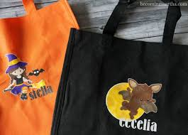 personalized trick or treat bags personalized trick or treat bags with printable vinyl becoming