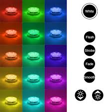 rgb led puck lights rgb submersible led lights battery powered led accent lights