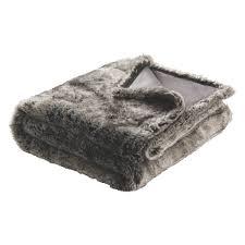 Fake Fur Throws Lupin Grey Faux Fur Throw Buy Now At Habitat Uk