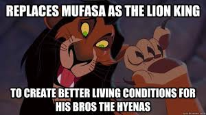 The Lion King Meme - replaces mufasa as the lion king to create better living