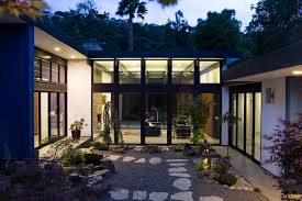 mid century architecture atrium house a mid century architecture residence by klopf