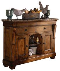 Marble Sideboards Kincaid Tuscano Solid Wood Sideboard With Marble Top Traditional