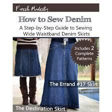 denim skirts how to sew denim ebook fresh modesty