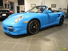 2012 paint to sample bright blue porsche 911 turbo s cabriolet