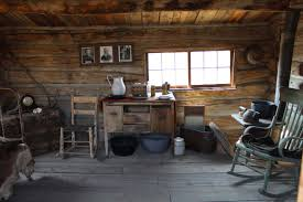 pioneer cabin interior old log cabin interior royalty free stock