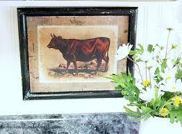 farmhouse style wall decor my cow art a cultivated nest