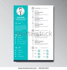 template curriculum vitae creative unique flat color curriculum vitae design stock vector 684224314