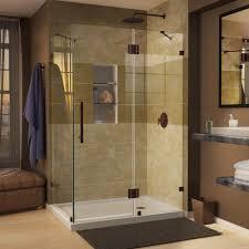 Tile Shower Door by Dreamline Quatra Lux 46 5 16 In X 32 1 4 In X 72 In Frameless