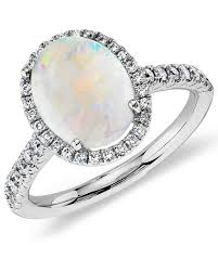 blue opal engagement rings opal engagement rings that are oh so dreamy martha stewart weddings