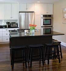 black kitchen island with black granite top outofhome