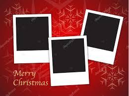 christmas card templates with blank photo frames u2014 stock vector