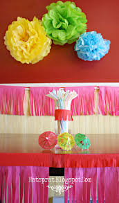 2nd birthday decorations at home natsprat tissue paper party decorations tutorial