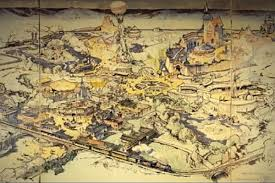 Unlv Map First Hand Drawn Disneyland Map Sells For 708k At Auction U2013 Las