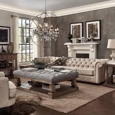 homesullivan segovia grey pillowtop coffee table 40e302gl 30actl