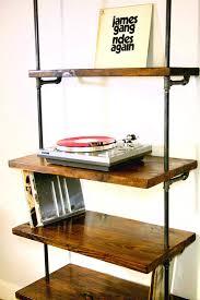 Modern Furniture Shelves by Industrial Vinyl Record Storage Shelf Unit Modern Bookcase