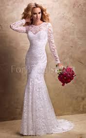 discount mermaid jewel sweep train long sleeve zipper lace wedding