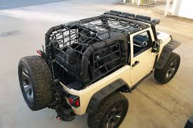 jeep wrangler 4 door top off rugged ridge 13552 70 cargo net black 07 16 jeep wrangler jk