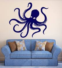 octopus decor vinyl wall decal octopus tentacles marine animal sea decor