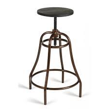 modrest fritch modern black u0026 bronze bar stool