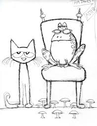 pete cat rock coloring coloring pages kids