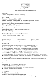 Resume Samples For Accounting by Resume Examples Umd