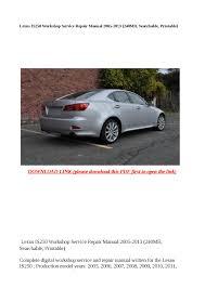 28 2007 lexus is250 owners pdf manual 122061 2007 lexus is