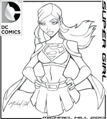 supergirl coloring pages printables superman kids colouring
