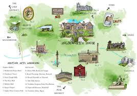 Yorkshire Map History Of Holdsworth House And Local Attractions