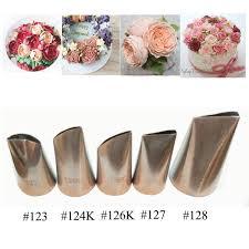 aliexpress com buy 5 pcs rose petal metal cream tips cake